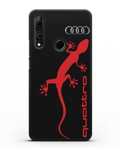 Чехол с логотипом Audi Quattro силикон черный для Honor 9X