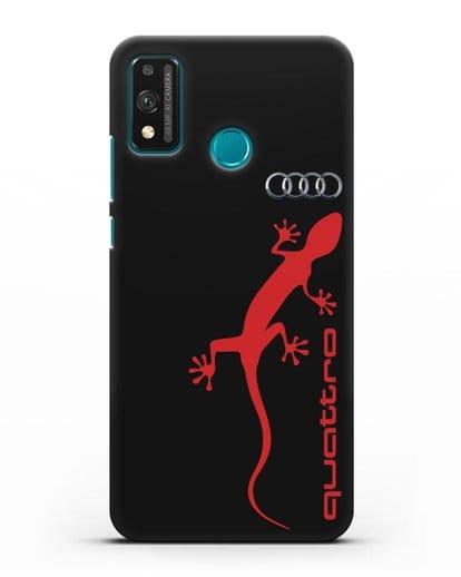 Чехол с логотипом Audi Quattro силикон черный для Honor 9X lite