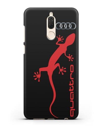 Чехол с логотипом Audi Quattro силикон черный для Huawei Mate 10 Lite