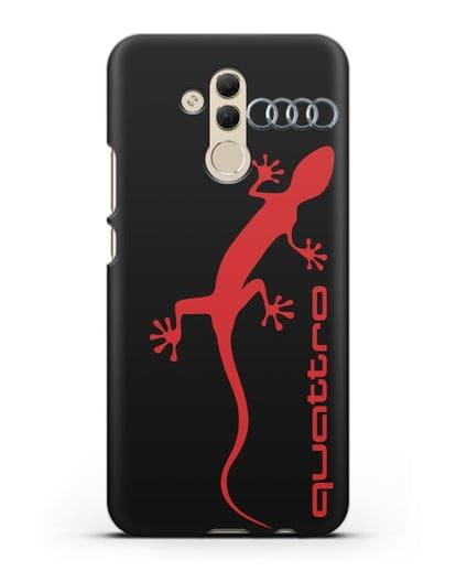 Чехол с логотипом Audi Quattro силикон черный для Huawei Mate 20 Lite