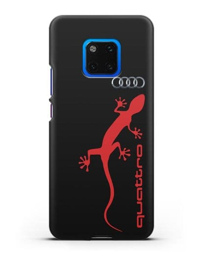 Чехол с логотипом Audi Quattro силикон черный для Huawei Mate 20 Pro