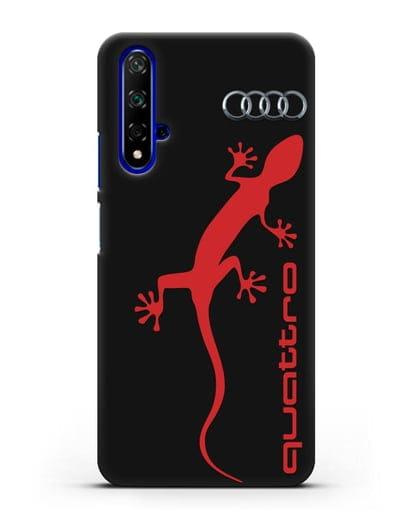 Чехол с логотипом Audi Quattro силикон черный для Huawei Nova 5T