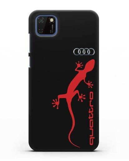 Чехол с логотипом Audi Quattro силикон черный для Huawei Y5P