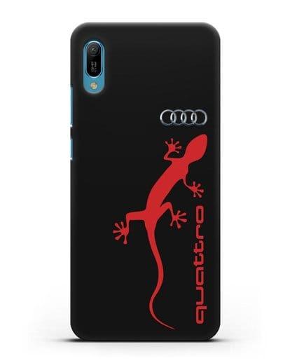 Чехол с логотипом Audi Quattro силикон черный для Huawei Y6 2019