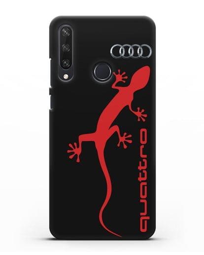 Чехол с логотипом Audi Quattro силикон черный для Huawei Y6P
