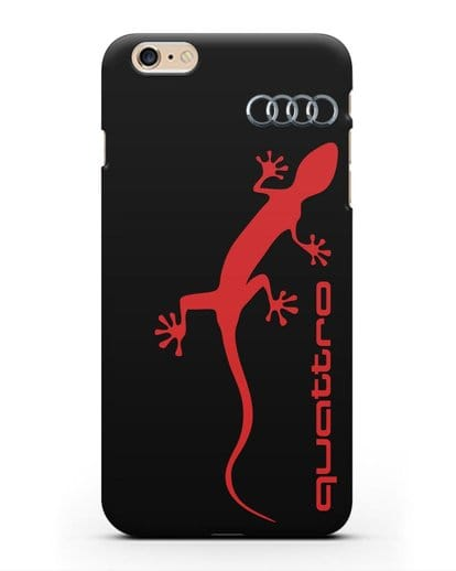 Чехол с логотипом Audi Quattro силикон черный для iPhone 6s Plus