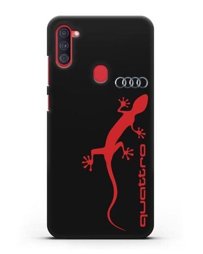 Чехол с логотипом Audi Quattro силикон черный для Samsung Galaxy A11 [SM-A115F]