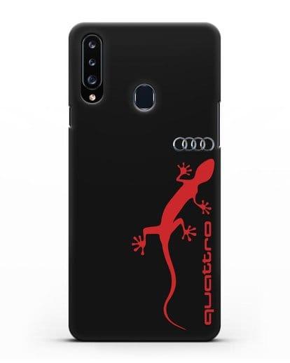 Чехол с логотипом Audi Quattro силикон черный для Samsung Galaxy A20s [SM-A207FN]