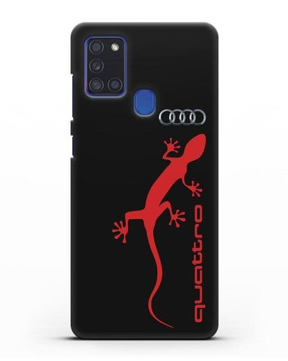 Чехол с логотипом Audi Quattro силикон черный для Samsung Galaxy A21s [SM-A217F]