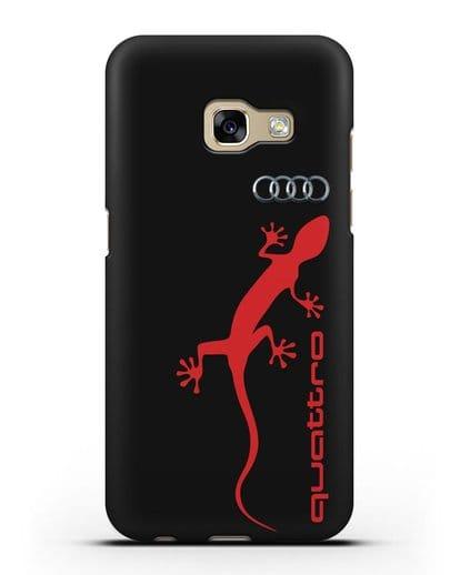 Чехол с логотипом Audi Quattro силикон черный для Samsung Galaxy A5 2017 [SM-A520F]