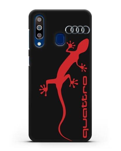 Чехол с логотипом Audi Quattro силикон черный для Samsung Galaxy A60 [SM-A606F]