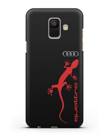 Чехол с логотипом Audi Quattro силикон черный для Samsung Galaxy A6 2018 [SM-A600F]