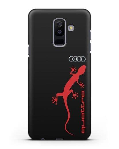 Чехол с логотипом Audi Quattro силикон черный для Samsung Galaxy A6 Plus 2018 [SM-A605F]
