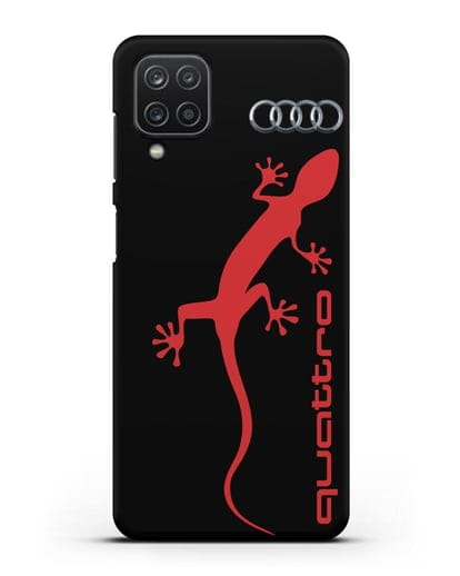 Чехол с логотипом Audi Quattro силикон черный для Samsung Galaxy A12 [SM-A125F]