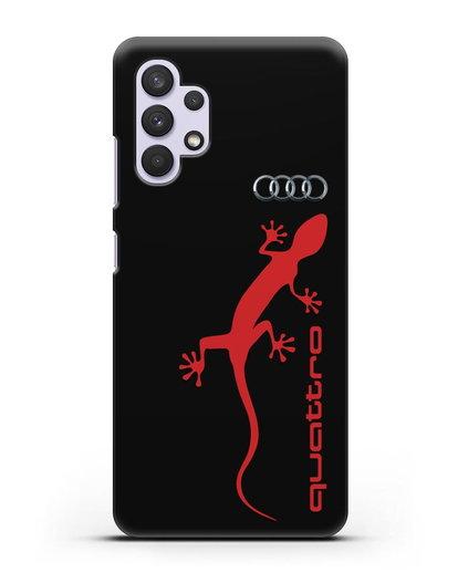Чехол с логотипом Audi Quattro силикон черный для Samsung Galaxy A32 5G [SM-A326B]