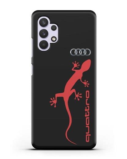 Чехол с логотипом Audi Quattro силикон черный для Samsung Galaxy A32 4G [SM-A325F]