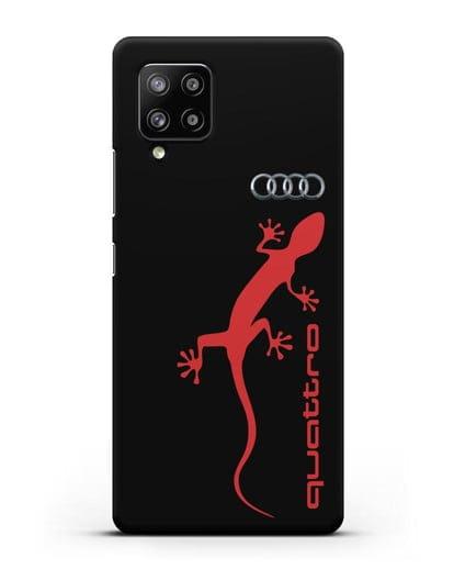 Чехол с логотипом Audi Quattro силикон черный для Samsung Galaxy A42 [SM-A426B]