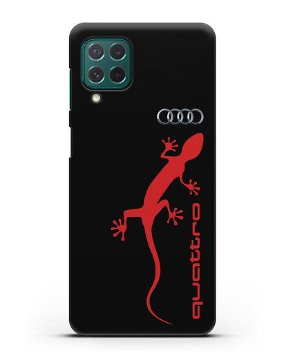 Чехол с логотипом Audi Quattro силикон черный для Samsung Galaxy M62 [SM-M625F]