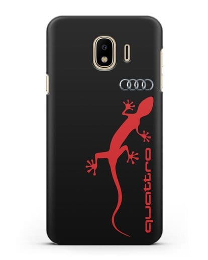 Чехол с логотипом Audi Quattro силикон черный для Samsung Galaxy J4 2018 [SM-J400F]