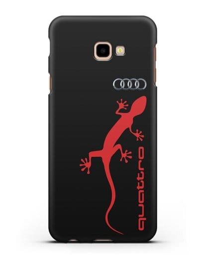 Чехол с логотипом Audi Quattro силикон черный для Samsung Galaxy J4 Plus [SM-J415]