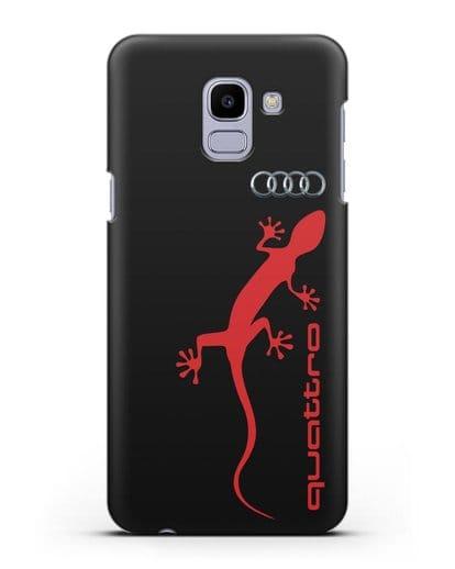 Чехол с логотипом Audi Quattro силикон черный для Samsung Galaxy J6 2018 [SM-J600F]