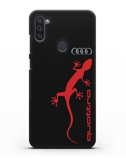Чехол с логотипом Audi Quattro силикон черный для Samsung Galaxy M11 [SM-M115F]