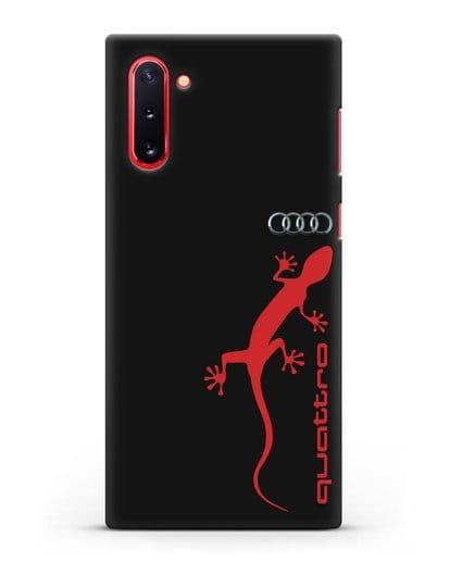 Чехол с логотипом Audi Quattro силикон черный для Samsung Galaxy Note 10 [N970F]