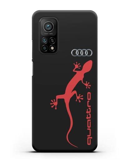 Чехол с логотипом Audi Quattro силикон черный для Xiaomi Mi 10t Pro