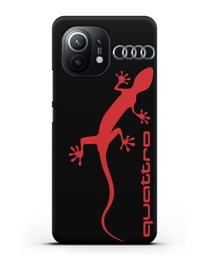 Чехол с логотипом Audi Quattro силикон черный для Xiaomi Mi 11