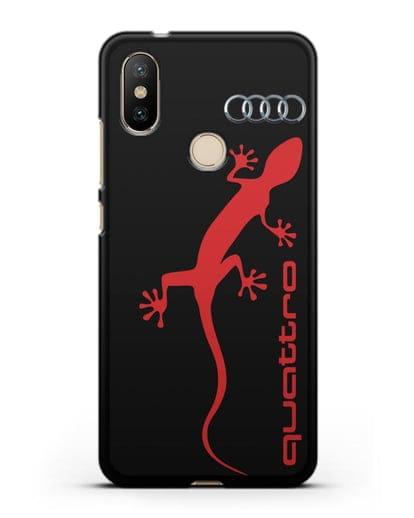 Чехол с логотипом Audi Quattro силикон черный для Xiaomi Mi 6X