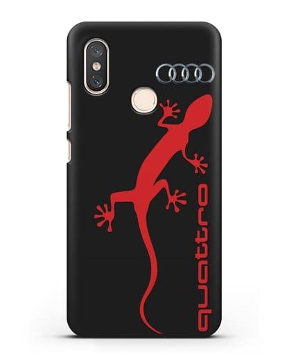 Чехол с логотипом Audi Quattro силикон черный для Xiaomi Mi 8