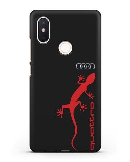 Чехол с логотипом Audi Quattro силикон черный для Xiaomi Mi 8 SE