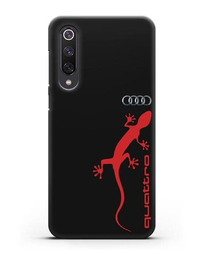 Чехол с логотипом Audi Quattro силикон черный для Xiaomi Mi 9 SE