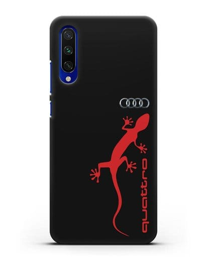 Чехол с логотипом Audi Quattro силикон черный для Xiaomi Mi A3