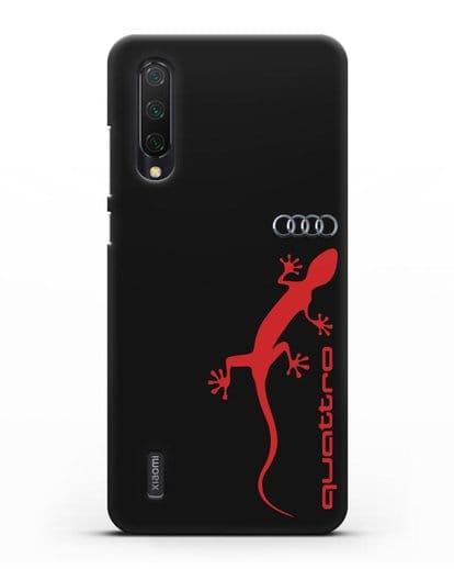 Чехол с логотипом Audi Quattro силикон черный для Xiaomi Mi A3 Lite