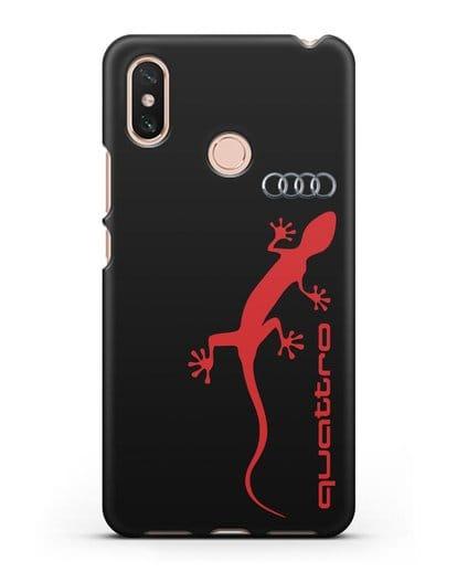 Чехол с логотипом Audi Quattro силикон черный для Xiaomi Mi Max 3