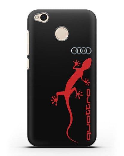 Чехол с логотипом Audi Quattro силикон черный для Xiaomi Redmi 4X