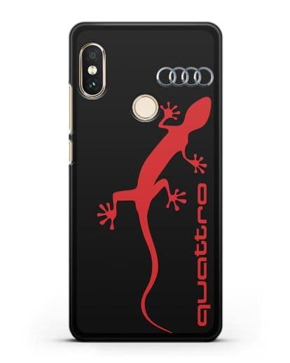 Чехол с логотипом Audi Quattro силикон черный для Xiaomi Redmi 6 Pro