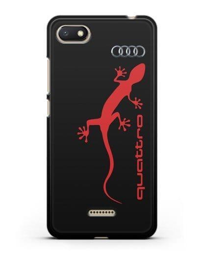 Чехол с логотипом Audi Quattro силикон черный для Xiaomi Redmi 6A