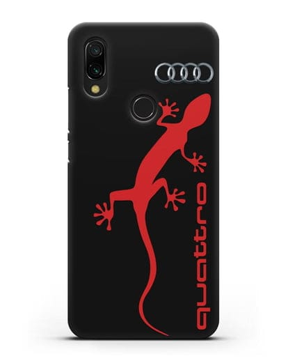 Чехол с логотипом Audi Quattro силикон черный для Xiaomi Redmi 7