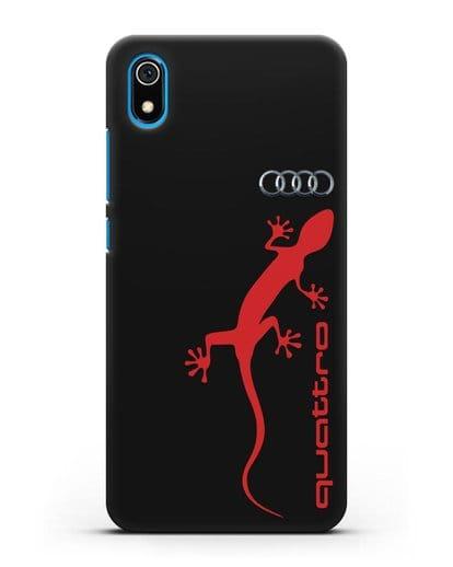 Чехол с логотипом Audi Quattro силикон черный для Xiaomi Redmi 7A