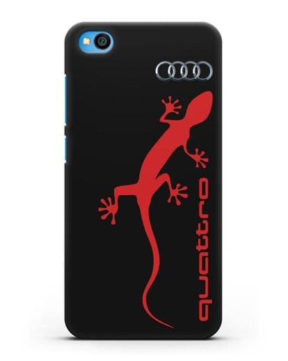 Чехол с логотипом Audi Quattro силикон черный для Xiaomi Redmi Go