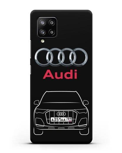 Чехол Audi Q7 с номерным знаком силикон черный для Samsung Galaxy A42 [SM-A426B]