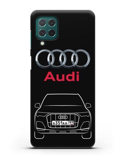 Чехол Audi Q7 с номерным знаком силикон черный для Samsung Galaxy M62 [SM-M625F]