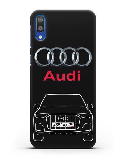 Чехол Audi Q7 с номерным знаком силикон черный для Samsung Galaxy M10 [SM-M105F]