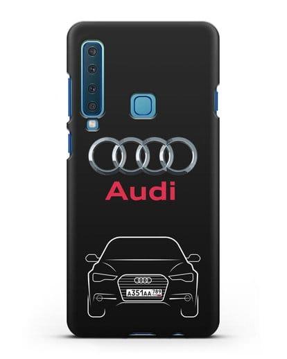Чехол Audi A6 с номерным знаком силикон черный для Samsung Galaxy A9 (2018) [SM-A920]