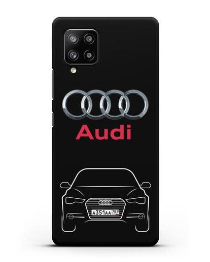Чехол Audi A6 с номерным знаком силикон черный для Samsung Galaxy A42 [SM-A426B]