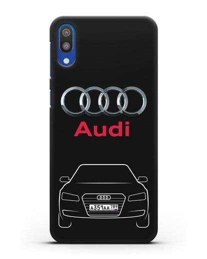 Чехол Audi A8 с номерным знаком силикон черный для Samsung Galaxy M10 [SM-M105F]
