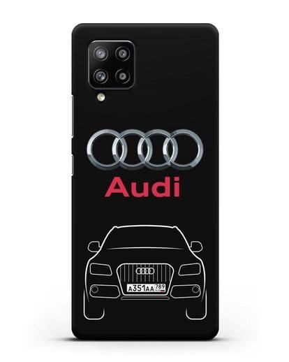 Чехол Audi Q5 с номерным знаком силикон черный для Samsung Galaxy A42 [SM-A426B]
