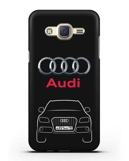 Чехол Audi Q5 с номерным знаком силикон черный для Samsung Galaxy J5 2015 [SM-J500H]
